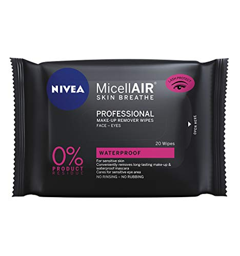 NIVEA MicellAIR - Confezione da 20 salviette professionali micellari, detergenti e struccanti