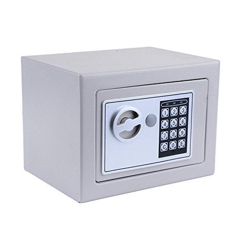 Qulista Cassaforte Elettronica a Muro Cassetta di Sicurezza Piccola con Codice Chiave Scatola di Sicurezza Nascosta Combinazione 22,5 x 17 x 16 cm (grigio)