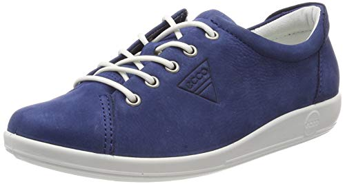 Ecco Damen SOFT2.0 Sneaker, Blau (True Navy 2048), 39 EU