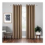 Persianas de rodillos cortinas apagones negro espesar tela cortinas apagones para la sala de estar Cortinas modernas de sombreado de alta sombrilla para cortinas de la ventana de dormitorio cortinas d