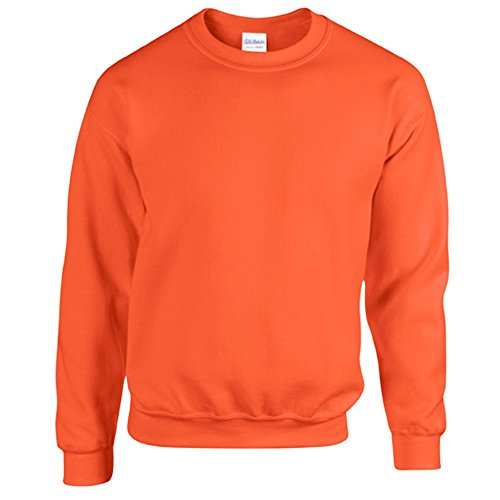Gildan Heavy Blend Erwachsenen Crewneck Sweatshirt 18000 XXL, Orange