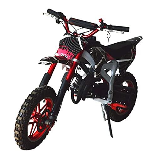 """GGPUS 50cc 2-Hub-Motorrad-Schmutz-Fahrrad, Kinder-Pit-Fahrrad, Max-Geschwindigkeit 21,7 km/h, 0.4Gal-Kraftstofftank, Upgrade vorne und hinten 10\""""Reifen für Off-Road"""