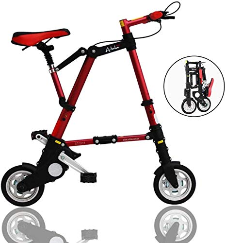 Find Bargain Xiaochongshan Lightweight Flying Mini Folding Bikes,8 Aluminum Alloy Stronger Frame, U...