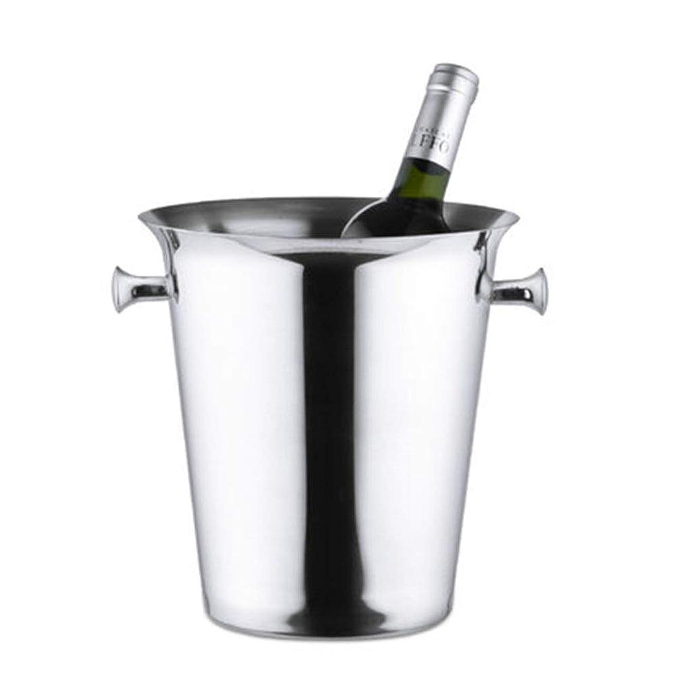 謝罪仮装変成器アイスペール ビール、ワイン、シャンパンドリンクコールド&フード新鮮な-Insulatedステンレス鋼を保ちます 氷と飲み物用 (色 : Silver, Size : 22x22.5x14cm)