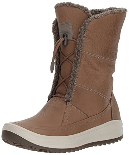 ECCO Women's Trace Tie Snow Boot, Birch/Birch, 36 EU / 5-5.5 US