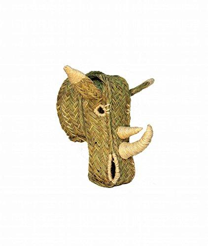 Cabeza de rinoceronte de esparto