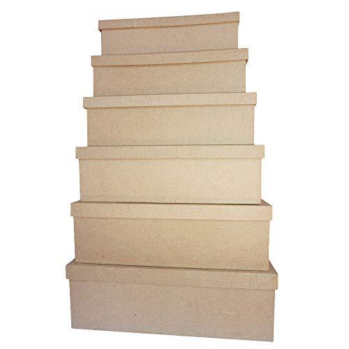 Décopatch BT9011O Box (aus Pappmaché zum Verzieren und Personalisieren, 13,5 x 22 x 5,5 cm) 1 Stück kartonbraun