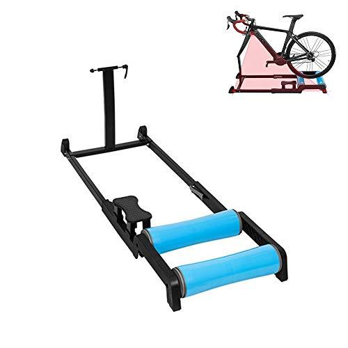Entrenador de bicicleta, plataforma de entrenamiento con ruedas para montar, soporte de...
