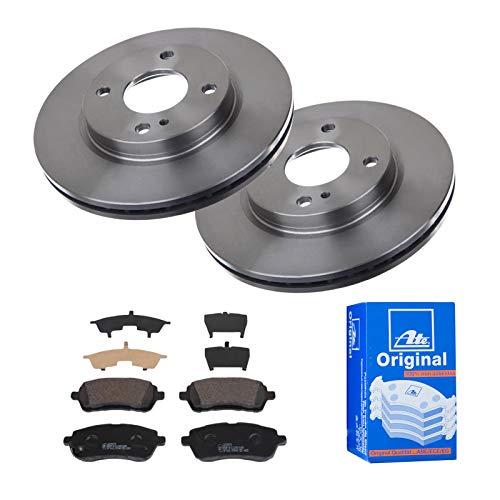 2 Bremsscheiben Ø258 Belüftet + Bremsbeläge ATE Vorne P-A-01-00384 Bremsanlage