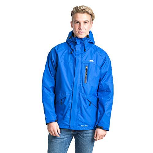 Trespass Corvo Jacket, Blue, 3XL, Wasserdichte Regenjacke für Herren, 3X-Large, XXX-Large, XXXL, Blau