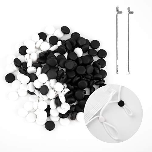 TOYMIS 200 Piezas 1 cm / 0,39 Pulgadas De Cable De Bloqueo Ajustador De Cable Elástico Para Ajuste De Tela, Cordones…