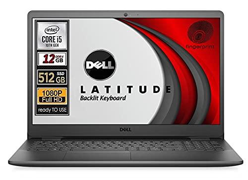 Notebook SSD Dell, Cpu Intel i5 di 10 Gen, Display 15,6' FullHd, SSD nvme da 512 Gb, Ram 12Gb, Win10 Pro, Webcam, wi-fi, bt, Pronto All'uso, Gar Italia