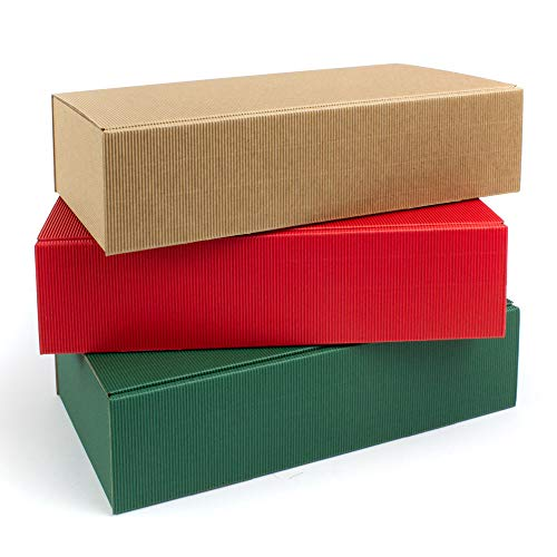 Caja de cartón para 2 botellas de champán o vino, 360 x 260 x 90 mm, sin depósito, 9 unidades, 3 colores