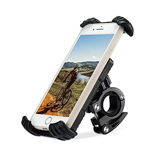 Fahrrad Handyhalterung Motorrad Handyhalter Universal 360 Drehung Einstellbare Abnehmbare Fahrradhalter fur 4,9-6,8 Zoll Smartphone