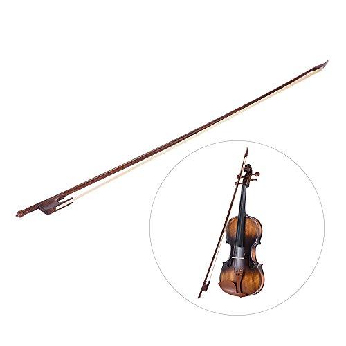 ammoon Barock Stil Schlangenholz 4/4 Violine Geige Bogen Rosshaar Rundstab nach außen Sturz
