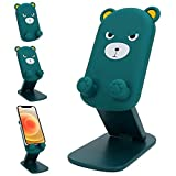 Cute Foldable Adjustable Cartoon Cell Phone Holder Stand for Desk ,Portable Universal Desk Phone Holder Stand Cradle Dock for All Mobile Smart Phones /Tablets( 4~10inch)/Kindles/Switch (Angry Bear)