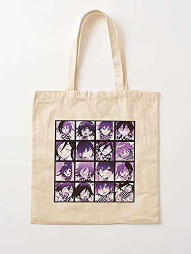Générique Kokichi V3 Danganronpa Manga Panta Ouma | Sacs d'épicerie de Toile Sacs fourre-Tout avec poignées Sacs à provisions en Coton Durable