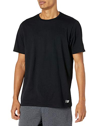 Russell Athletic Men's Essenital Short Sleeve Tee, Negro