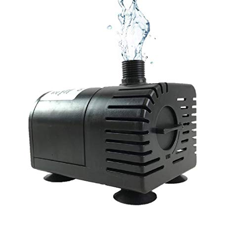 AEO Dry-Run Protection 12V-24V DC Brushless Submersible Water Pump, 410GpH, for Solar Fountain, Fish Pond, and Aquarium (WP50D)