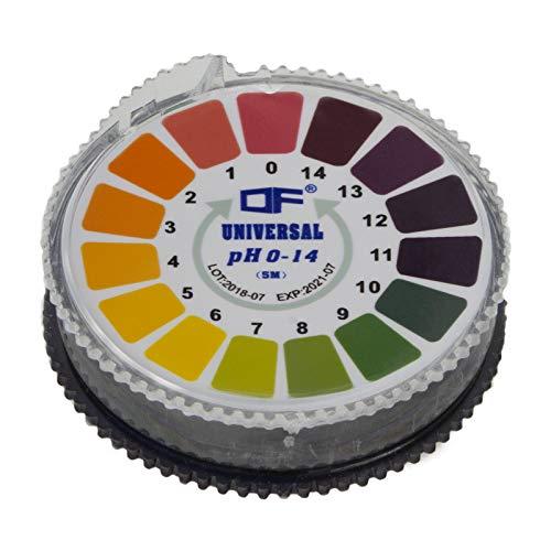 Smartfox pH-Wert Tester Teststreifen Testpapier Indikatorpapier (pH 0-14) - 5 Meter lang für Wasser, Urin, Speichel & Co.