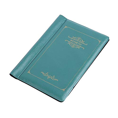 HDSHD 120枚のコインホルダー4色コインアルバムポータブルアルバムコインペニーマネー収納ブックケースフォルダホルダーコレクションの収集 (色 : 緑)