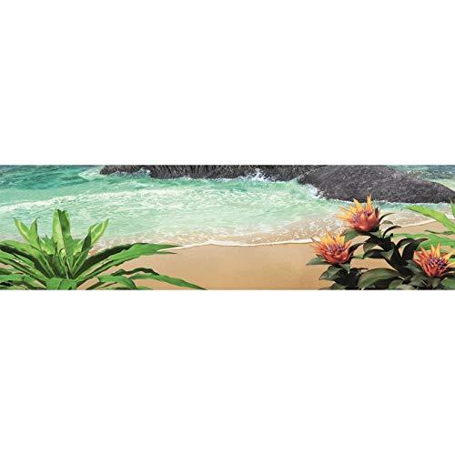 Saia de Mesa Sublimado Praia Ilha Deserta