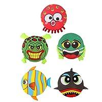 LIOOBO 子供たちのためにディスク-improvesフォーカス調整を-flying 5個の動物柔らかいフリスビー
