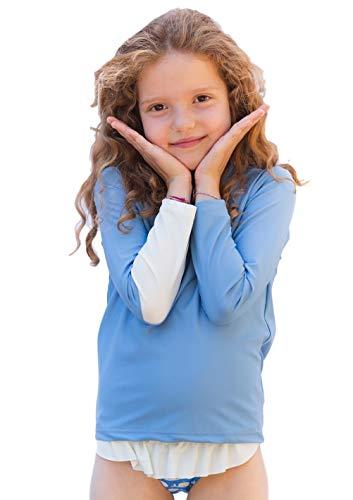 OCOI UPF50+ Sun Protection Rashguard for Kids. Long Sleeve rash vest top. Swim shirt UV Protective children