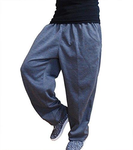 動きやすい スウェットパンツ ゆったり ダンス トレーニング 裾ゴム パンツ (LL, グレー)