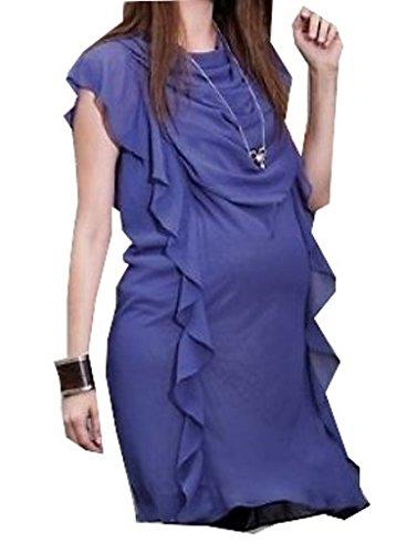 Umstandsmode Umstandskleid lila Schwangerschaft Schwanger S M L XL Kleid SALE Größe S