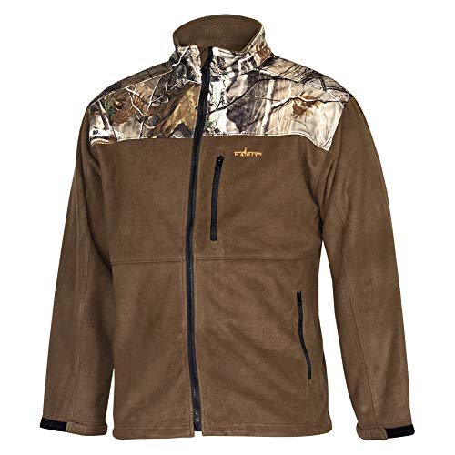 HABIT Realtree Camo Fleece Full Zip Softshell Windproof Technical Tactical Jacket Large