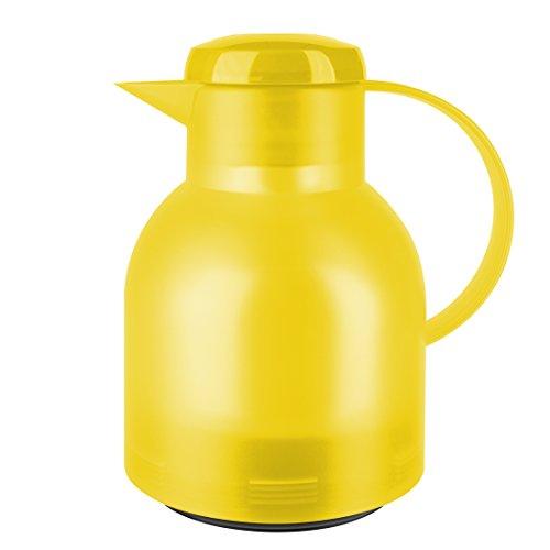 Emsa Samba Isolierkanne 508950 | 1 Liter | Quick Press Verschluss | 100% dicht | 12h heiß, 24h kalt | Hellgelb Transluzent