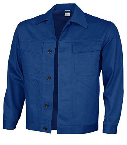 Qualitex Basic Veste ceinturée 100 % coton 240 g/m², Homme, 61939df, Bleu Korn, 66