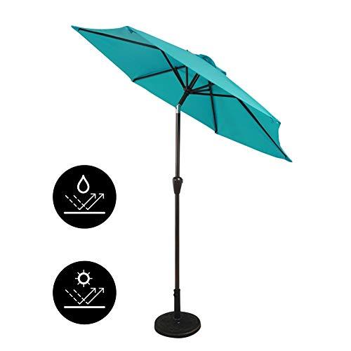 Parasols Parapluie de Jardin Extérieur, Housse de Moustiquaire en Polyester pour Table de, Inclinaison Portative, Hauteur 2,6 m / 8,9 Pieds, Bleu
