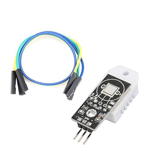 Módulo de sensor de humedad y temperatura digital DHT22 AM2302 para Arduino con placa de cables Dupont para herramienta electrónica de bricolaje Arduino (Color: negro)