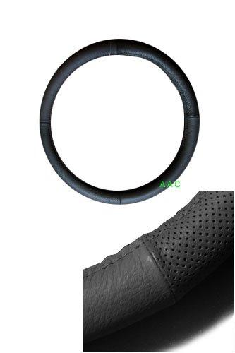 SY Geniune Leather Steering Wheel Cover - Black