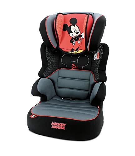 Mycarsit Kindersitz Befix Gruppe 2/3, mit seitlichem Schutz, 4 Sterne, ADAC Made In France – Mickey