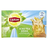 Lipton Green Iced Tea Bags Unsweetened Made with Tea Leaves Sourced from Rainforest Alliance Certified Farms, 1 gallon, 2x Pack of 24