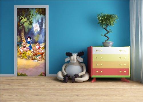 Disney Blanche Neige Panorama Papier Peint dècoration pour la Chambre d'enfants 90x202cm