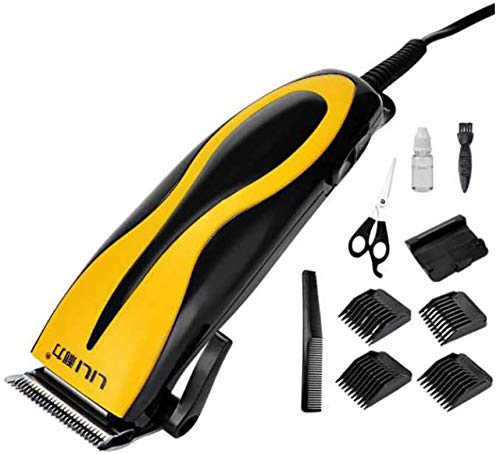 GGJC Tondeuse à cheveux Tondeuse à barbe Hommes Machine de rasage Coupe de cheveux électrique Plug-in Ligne adulte Ménage Tondeuse à cheveux Couteau d