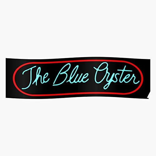 DripCreationz Retro Academy Oyster Movie Police Comedy Blue Film Geschenk für Wohnkultur Wandkunst drucken Poster 11.7 x 16.5 inch