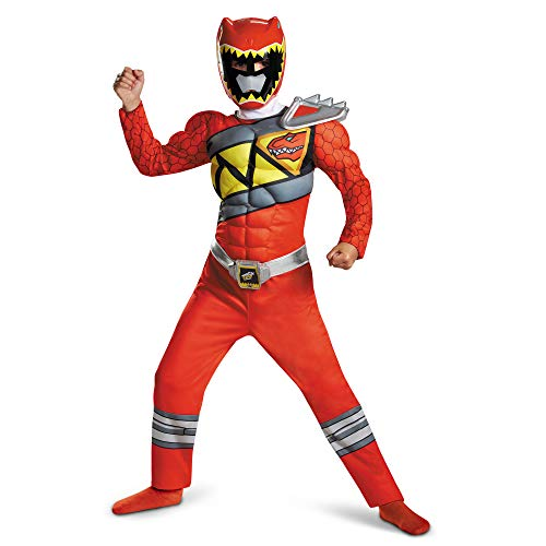 Disguise Red Ranger Dino Charge Classic Muscle Costume, Large (10-12) by Disguise