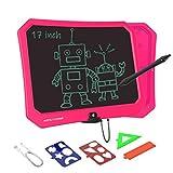VNVDFLM 17 Zoll EWriter Electronic Graphics Tablet Tragbare Schreibtafel für Geburtstagsgeschenke, Kinderspielzeug für Kinder und Erwachsene Farb-LCD-Schreibtablett mit Stylus Smart Paper (Rose)