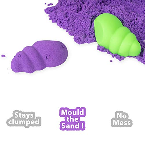 RATNA'S Wonder Sand 500 Grams for Play. Smooth Sand for Kids (Purple 500 Grams), ONE Big Mould Inside (Without Tray) 4