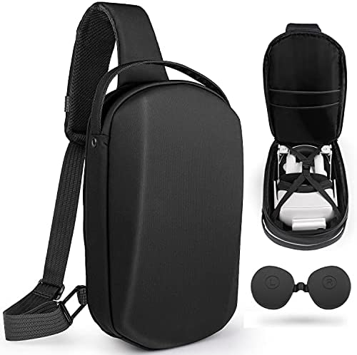 Oculus Quest 2 Case Relohas Carrying Case for Quest 2 VR Headset, with Protective Lens Cover, Crossbody Shoulder Chest Backpack Protective Storage Hard Travel Case for Oculus Quest 2
