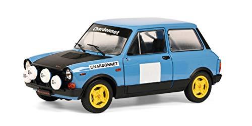 Solido Autobianchi A112 MK5 Abarth Chardonnet Rally-Maqueta de Coche (Escala 1:18), Color Azul, Negro (1803801)