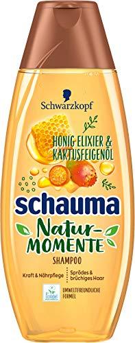 SCHWARZKOPF SCHAUMA Natur-Momente Shampoo Haar-Smoothie Honig Elixier & Kaktusfeigenöl, 4er Pack (4 x 400 ml)