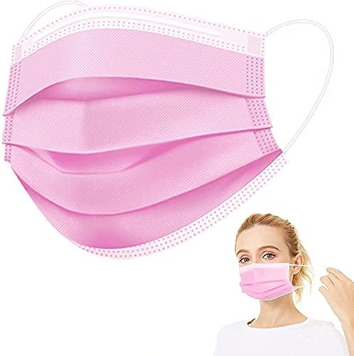 OP Masken Rosa, medizinischer mundschutz, TYP IIR BFE ≥ 99% CE Zertifiziert medizinisch Gesichtsmaske, 50 Stück einwegmasken, medizinische Mund nasen schutzmaske, op Maske