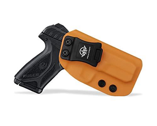 Kydex IWB Holster Pistolenholster for Ruger Security-9 Holster Inside Waistband Concealed Carry - Pistolenhalfter Hängend Carrier Verdeckte/Versteckte Pistole Case Waffenholster (Orange, Right Hand)