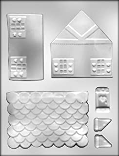 CK Products 4-1/4-Inch 3-D Gingerbread House Chocolate Mold